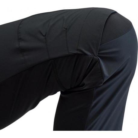 CANARD Pánské spodky dlouhé nohavice CESAR černá/oranžové švy, M