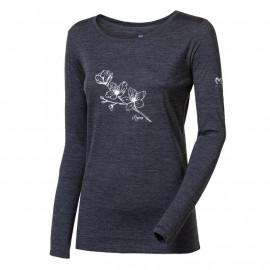"""MAGARA """"BLOSSOM"""" dámské merino triko dlouhý rukáv"""