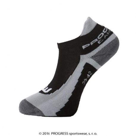 Progress KIDS BAMBOO SOX dětské turistické ponožky s bambusem šedá/modrá, 30-34