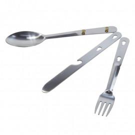 Kempingový příborový set Steel Cutlery Set RCE129